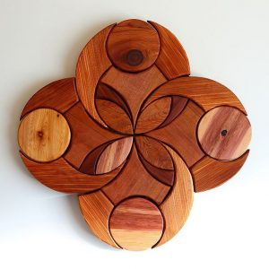 Communal Bloom #woodwork #woodmagic #wallhanging #woodmandala #woodmandala #handmade #handcrafted #vancouverisland #cumberlandbc #customwood #cedar