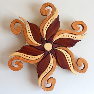 Little flower #woodart #woodwork#woodworking #scrollsaw#intarsia #finewoodworking #craftsmen#wood #woodmagic #wallhanging #woodmandala #woodwhispering #art #handmade #handcrafted #psychedelic #plantmedicine #mandala #magic #customwood #cumberlandbc #vancouverisland #flower